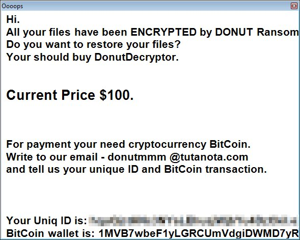 decrypt.txt ransom message text donut ransomware